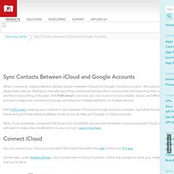 How to Sync Contacts Between iCloud and Google Accounts