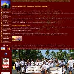 Vos contacts chez Ananda Travel Yangon, agence de voyage de Birmanie (Myanmar) programme sur mesure en Birmanie