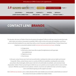 Buy Eye Contacts from Top Brands in California