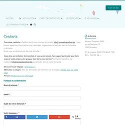 Contacts – Réseau Transition.be