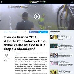 Tour de France 2014: Alberto Contador victime d'une chute lors de la 10e étape a abandonné - Tour de France 2014 - Cyclisme