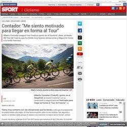 """Así hablaba Contador en los días previos: """"Me siento motivado"""""""