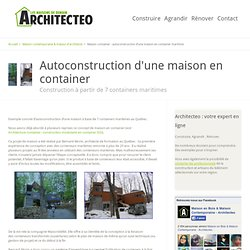 Maison container architecture pearltrees for Autoconstruction maison container