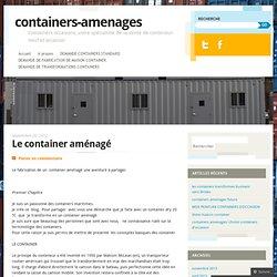 Le container aménagé