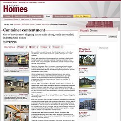Container contentment - Winnipeg Free Press Homes