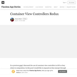 Container View Controllers Revisited – Flawless App Stories