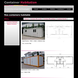 Container double habitable