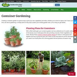 Container Gardening - Bonnie Plants