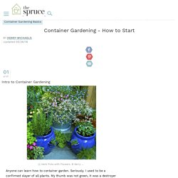 Container Gardening - How to Start