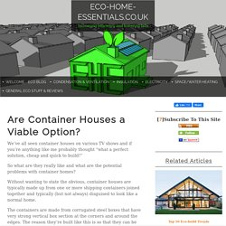 Are Container Houses a Viable Option?