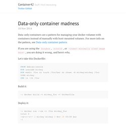 Data-only container madness · Container42