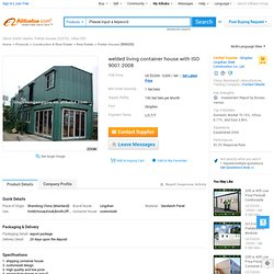 Welded Living Container House - Buy Shipping Container House,Shipping Container House,Mobile Container House Product on Alibaba