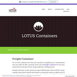 Freight Container – Buy, Sale and lease Shipping Containers