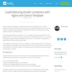 Load-balancing Docker containers with Nginx and Consul-Template - Belly Card Engineering