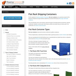 Flat Rack Container, Flat Bed & Platform Containers - Specifications
