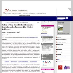 Safety of Soy-Based Infant Formulas Containing Isoflavones: The Clinical Evidence