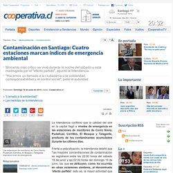 Contaminación en Santiago: Cuatro estaciones marcan índices de emergencia ambiental