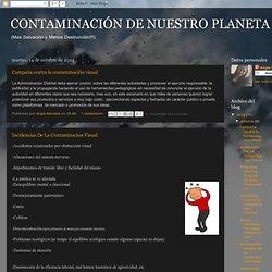 CONTAMINACIÓN DE NUESTRO PLANETA !!!