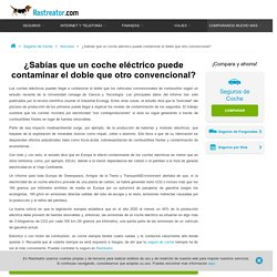 Contaminación del coche eléctrico - Rastreator.com™