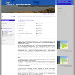 IFREMER - Contaminants chimiques - Cuivre (Cu)