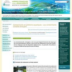 AGENCE FRANCAISE POUR LE DEVELOPPEMENT/ONEMA 16/09/16 Contaminants et pollutions aquatiques - Les contaminants d'intérêt émergent