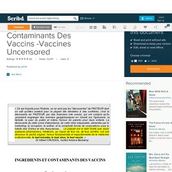 Ingr-Dients Et Contaminants Des Vaccins -Vaccines Uncensored