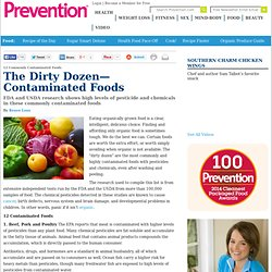 The Dirty Dozen—Contaminated Foods