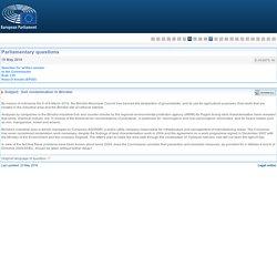 PARLEMENT EUROPEEN - Réponse à question E-003875-16 Soil contamination in Brindisi