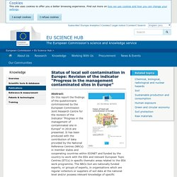 """EUROPA_EU - 2018 - Status of local soil contamination in Europe: Revision of the indicator """"Progress in the management contaminated sites in Europe"""""""