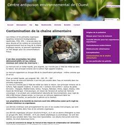 Contamination de la chaîne alimentaire - Centre antipoison environnemental de l'Ouest