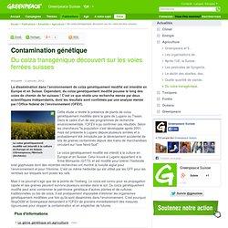 GREENPEACE 02/01/12 Contamination génétique - Du colza transgénique découvert sur les voies ferrées suisses