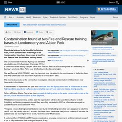 Contamination found at two Fire and Rescue training bases at Londonderry and Albion Park