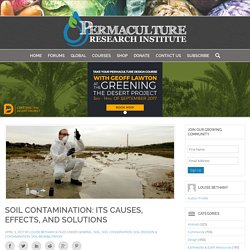 PERMACULTURENEWS 03/04/17 Soil Contamination: Its Causes, Effects, and Solutions
