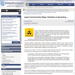 Japan Contamination Maps: Radiation is Spreading....