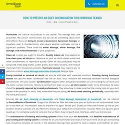 Prevent Air Duct Contamination this Hurricane Season