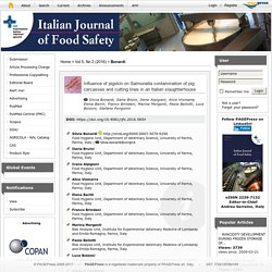ITALIAN JOURNAL OF FOOD SAFETY - 2016 - Influence of pigskin on Salmonella contamination of pig carcasses and cutting lines in an Italian slaughterhouse