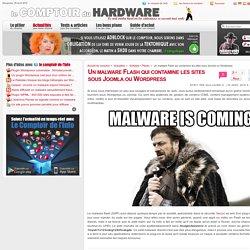 Un malware Flash qui contamine les sites sous Joomla ou Wordpress