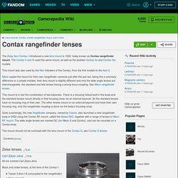 Contax rangefinder lenses