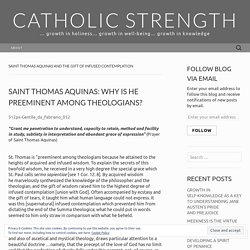 Saint Thomas Aquinas and the gift of infused contemplation