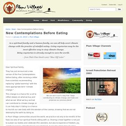 New Contemplations Before Eating