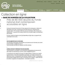 Près de 80 000 œuvres du Fonds national d'art contemporain accessibles en ligne