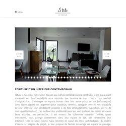 Ecriture d'un intérieur contemporain - SOA Architecture Intérieure