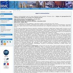Institut de Recherche sur le Maghreb Contemporain - Appel à communication