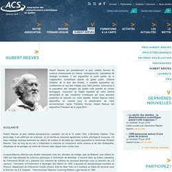 Hubert Reeves - Homme de science contemporain francophone