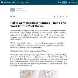 Poète Contemporain Français – Read The Work Of The Poet Online : robertfred — LiveJournal