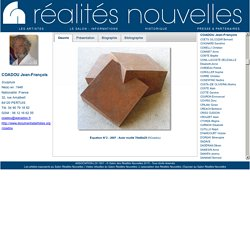 Jean-François COADOU / Salon Réalités Nouvelles
