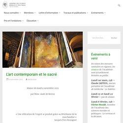 L'art contemporain et le sacré – Académie des Sciences Morales et Politiques