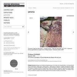Philippe Durand - Artiste Art Contemporain - CRAC Sète-Montpellier - Centre régional d'Art Contemporain du Languedoc-Roussillon