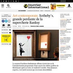 Sotheby's, grande perdante de la supercherie Banksy