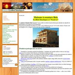 Maison passive ossature bois contemporaine ecologique bioclimatique, MOB,